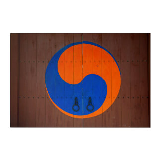 Impression En Acrylique Symbole de Yin et de Yang, Corée du Sud