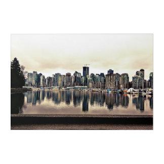 Impression En Acrylique Vue de ville de Vancouver