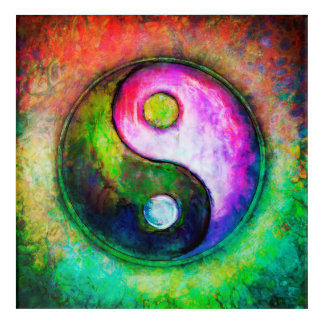 Impression En Acrylique Yin Yang - Colorful Painting I