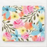 Impression florale de paradis tapis de souris