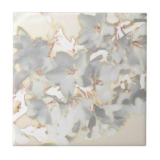 Impression florale en pastel petit carreau carré
