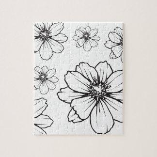 Impression florale graphique puzzle