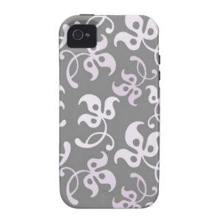 Impression florale noire et blanche coque Case-Mate iPhone 4
