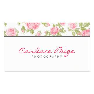 Impression florale vintage Girly de roses Carte De Visite Standard