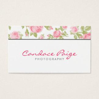Impression florale vintage Girly de roses Cartes De Visite