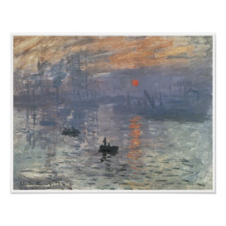 Impression-Lever de soleil, 1872 Poster
