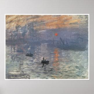 Impression-Lever de soleil, 1872 Posters