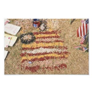 Impression Photo 11 septembre 2001 drapeau commémoratif
