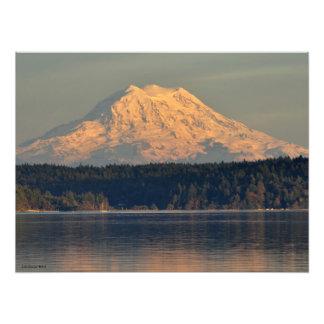 Impression Photo 18X24 le mont Rainier et admission de cas au