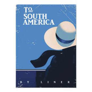 Impression Photo À l'affiche vintage de voyage de l'Amérique du Sud