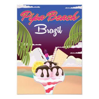 Impression Photo Affiche de vacances du Brésil de plage de Pipa