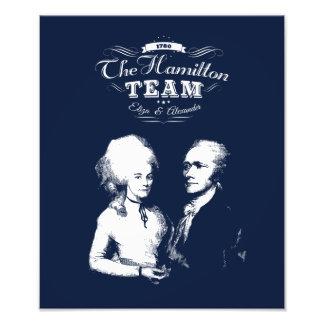 Impression Photo Alexander Hamilton, Eliza. Cadeaux d'histoire.