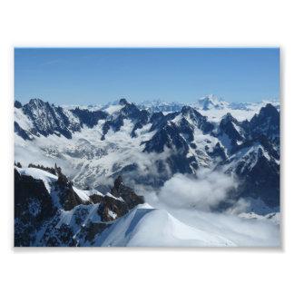 Impression Photo Alpes de Français de Chamonix