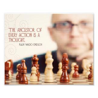 Impression Photo Ancêtre de chaque action par Ralph Waldo Emerson