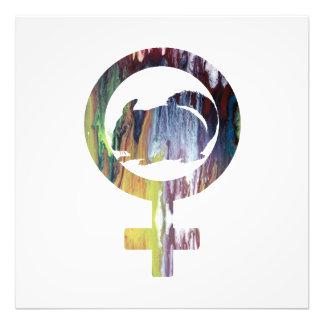 Impression Photo Art de chinchilla de symbole de Vénus