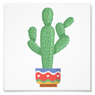 Impression Photo art de conception de fleur de plante de cactus