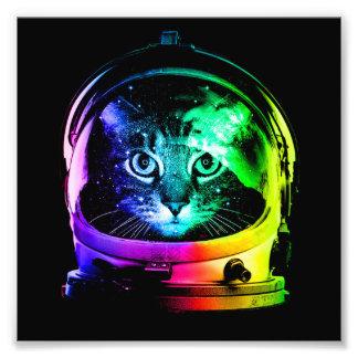 Impression Photo Astronaute de chat - chat de l'espace - chats