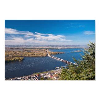 Impression Photo Au-dessus du fleuve Mississippi et du barrage chez