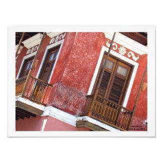 Impression Photo Bâtiment rouge à vieux San Juan Porto Rico