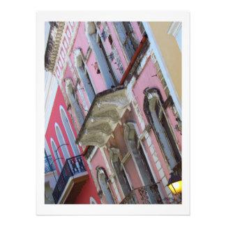 Impression Photo Bâtiments colorés à vieux San Juan Porto Rico