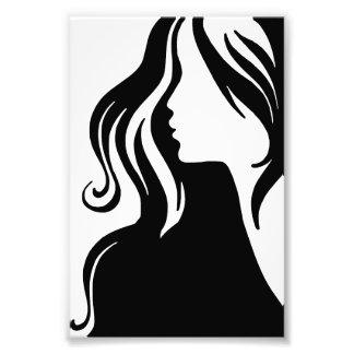Impression Photo beau femelle de fille de portrait de la femme