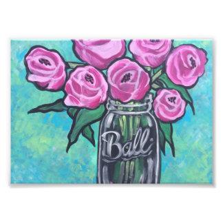 Impression Photo Beau rose de floraison