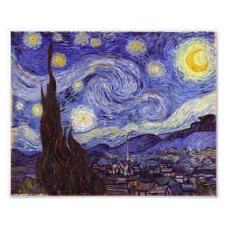 Impression Photo Beaux-arts de cru de nuit étoilée de Vincent van