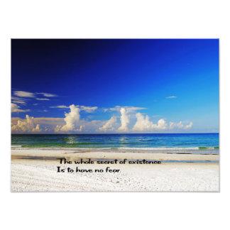 Impression Photo Belle copie de mur de plage
