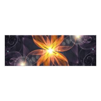 Impression Photo Belle fleur orange de fractale de lis d'étoile la