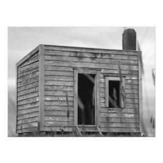 Impression Photo cabane tout à fait vieille