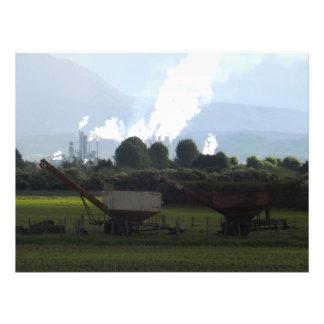 Impression Photo calme d'industrie de ferme