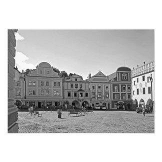 Impression Photo Carré dans la ville de Cesky Krumlov.