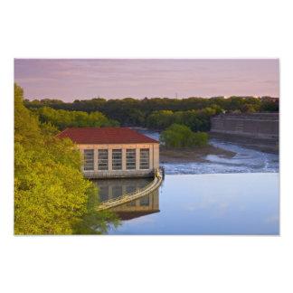 Impression Photo Centrale électrique et barrage de Highland Park