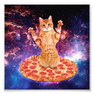 Impression Photo chat de pizza - chat orange - espacez le chat