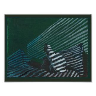 Impression Photo Chat d'impression d'art sur le lit dans