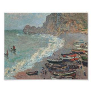 Impression Photo Claude Monet - plage chez Étretat