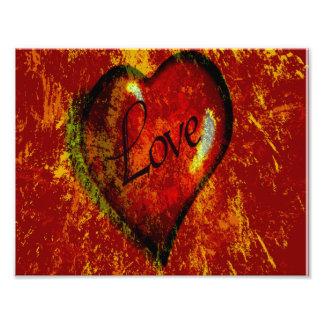 Impression Photo Coeur d'amour