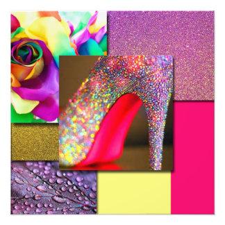 Impression Photo Collage de talon de parties scintillantes