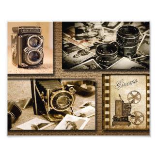 Impression Photo Collage vintage d'appareil-photo