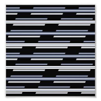 Impression Photo Conception de travers de motif de rayures