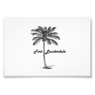Impression Photo Conception noire et blanche de Fort Lauderdale et