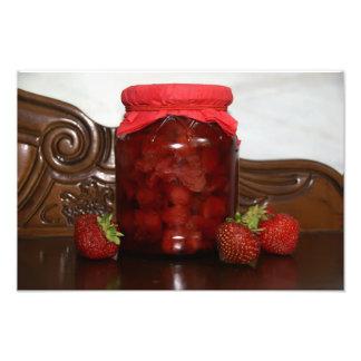 Impression Photo confiture de fraise