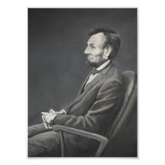 Impression Photo Copie d'art de portrait d'Abraham Lincoln