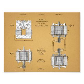 Impression Photo Copie de brevet de Nikola Tesla