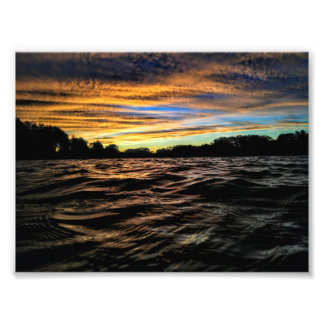 Impression Photo Copie de coucher du soleil d'octobre
