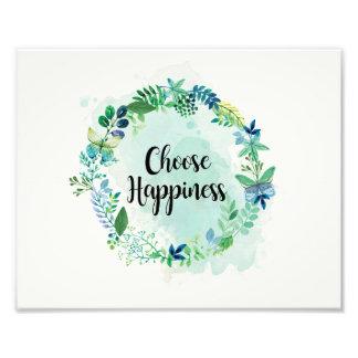 Impression Photo Copie florale de citation, aquarelle inspirée de