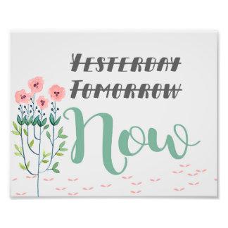 Impression Photo Copie florale de citation, citation inspirée