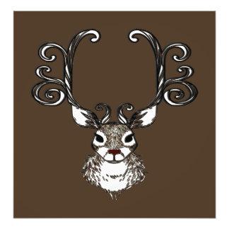 Impression Photo Copie mignonne de toile de brun de cerfs communs