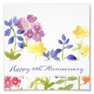 Impression Photo Copie personnalisée florale colorée d'art