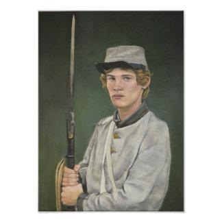 Impression Photo Copie rebelle d'art de portrait de guerre civile